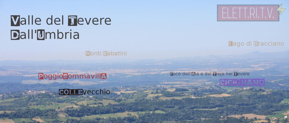 Panorama su Cicignano Collevecchio e Poggio Sommavilla la Valle del Tevere dall'Umbria