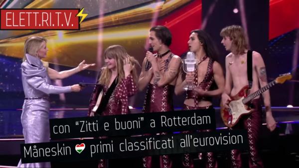 Måneskin_zitti_e_buoni_primi_classificati_vincono_eurovision_2021_rotterdam_italy_roma_italia
